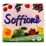 Салфетки бумажные Soffione однослойные розовые 33х33см 100шт
