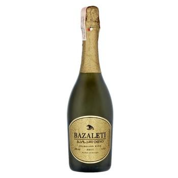 Вино ігристе Bazaleti біле брют 0,75л - купити, ціни на Novus - фото 1