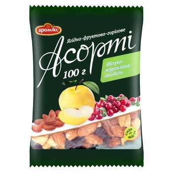 Асорті Аромікс яблуко-журавлина-мигдаль 100г - купити, ціни на Ашан - фото 1