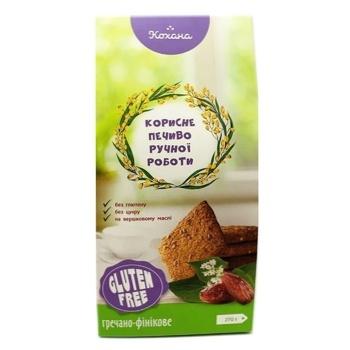 Печенье Кохана без глютена гречнево-финиковое 170г - купить, цены на Фуршет - фото 1