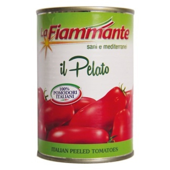 Vegetables tomato La fiammante whole 400g can