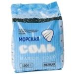 Соль морская Marco Polo мелкая 1кг - купить, цены на МегаМаркет - фото 1