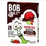 Мармелад Bob Snail яблоко-вишня в черном шоколаде без сахара 54г