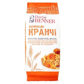 Кранчі Doctor Benner абрикосові 375г