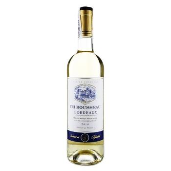 Вино CH Rousseau Blanc Moelleux Bordeaux біле напівсолодке 11% 0,75л