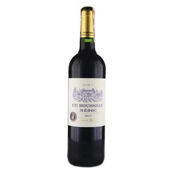 Вино CH Rousseau Medoc красное сухое 12,5% 0,75л