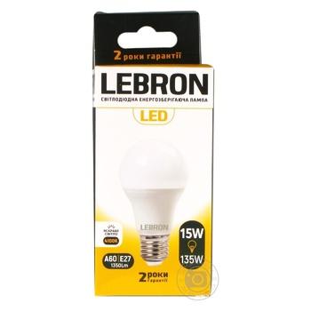 Лампа Lebron светодиодная A65 15W Е27 4100K - купить, цены на Ашан - фото 3