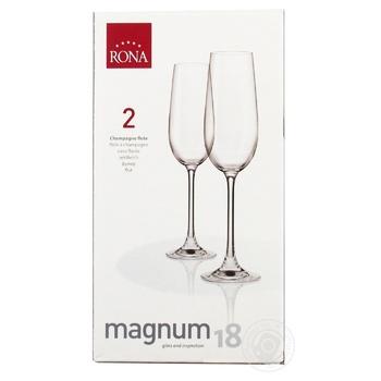 Набор бокалов Rona Magnum для шампанского 180мл*2шт