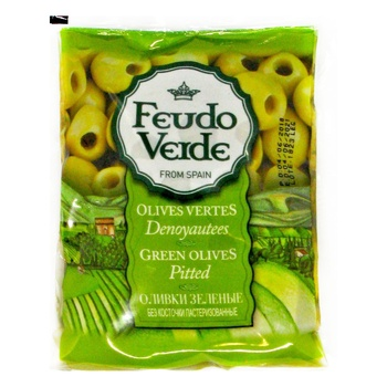 Feudo Verde Pitted Green Olives 170g - buy, prices for Novus - image 1