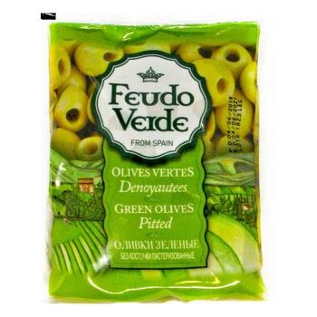 Оливки зеленые Feudo Verde без косточки 170г - купить, цены на Novus - фото 1