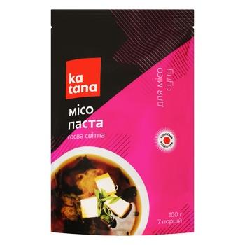 Мисо соевая паста светлая Katana 100г - купить, цены на Ашан - фото 1