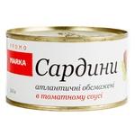 Сардины атлантические Marka Promo обжаренные в томатном соусе 240г