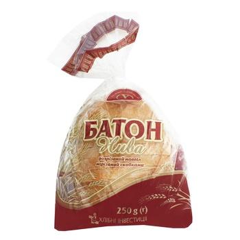 Батон Цар Хліб Нива нарізаний в упаковці половинка 250г - купити, ціни на Фуршет - фото 1