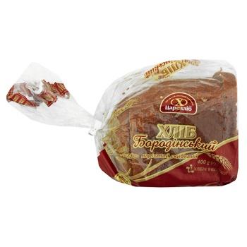Хлеб Царь Хлеб Бородинский упакован нарезной 400г - купить, цены на Novus - фото 1