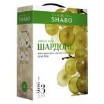 Вино Shabo Шардоне белое сухое ординарное столовое сортовое 13% 3л