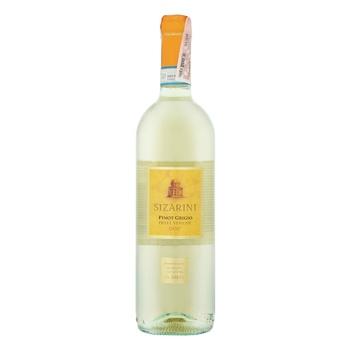 Вино Sizarini Pinot Grigio Veneto IGT белое сухое 11,5% 0,75л