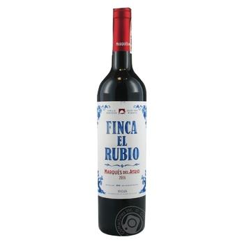 Вино Marques del Atrio Finca El Rubio DOC Rioja красное сухое 13,5% 0,75л