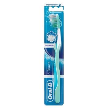 Зубная щетка Oral-B 3D White Отбеливание средняя