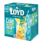 Чай зеленый Loyd Cold Infusion лимон, лайм и мята 20шт 1,5г