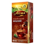 Чай чорний Лісма Індійський Міцний 25шт 1,8г