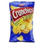 Чипсы картофельные Lorenz Crunchips X-cut Сыр и лук волнистые 75г