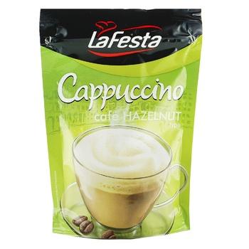 Напій Ла Феста Капучіно з горіховим смаком розчинний 100г - купити, ціни на УльтраМаркет - фото 1