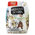 Завтрак сухой Oho Morning School со сгущенным молоком, какао со вкусом фундука 500г
