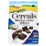 Сніданок сухий Bona Vita подушечки зернові чорно-білі з кокосовою начинкою 250г