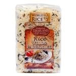 Рис World's Rice дикий та парбоілд довгозернистий шліфований пропарений 500г