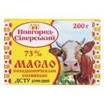 Масло Новгород-Северский Селянское сладкосливочное 73% 200г