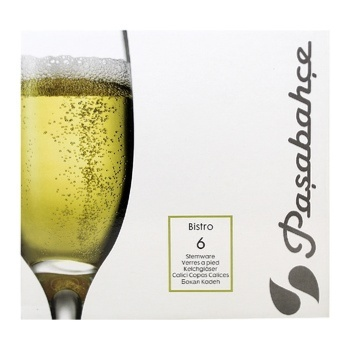 Келихи Pasabahce Bistro для шампанського 6шт*190мл