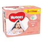 Салфетки Huggies Soft Skin влажные 168шт