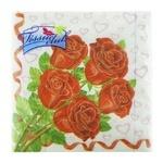 Серветки паперові Tissueclub Квіти тришарові 33х33см 20шт