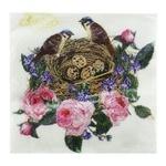 Салфетки La Fleur Птичье гнездышко двухслойные 33x33см 15шт