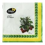 Салфетки Silken Лимоны бумажные столовые 33х33см 3 слоя 18шт