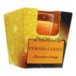 Свеча Feroma Candle Апельсин и шоколад оранжевая арома стопка