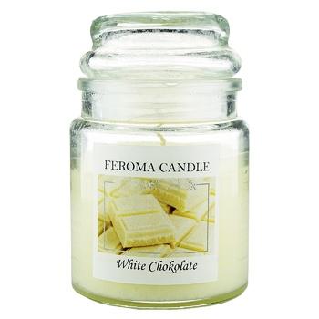 Свеча Feroma Candle белый шоколад арома банка