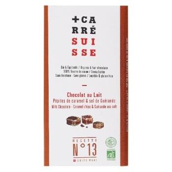 Шоколад Carre Suisse Guerande молочный с кусочками карамели и морской солью 100г