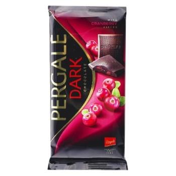Шоколад Pergale черный с кусочками клюквы 93г