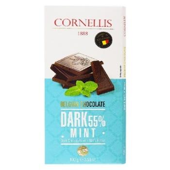 Cornellis Black Chocolate with Mint Flavor 55% 100g - buy, prices for CityMarket - photo 1