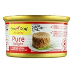 Корм GimDog Shiny Dog для собак з тунцем та телятиною консервований 85г