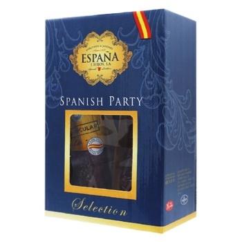 Набір подарунковий Espana Spanish party Хамон 300г, Чорізо сарта 200г, Сальчічон екстра 260г