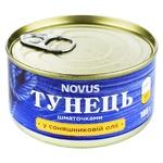 Тунець Novus кусочками в подсолнечном масле 185г