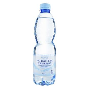 Вода Novus Карпатська джерельна негазированная минеральная 0,5л