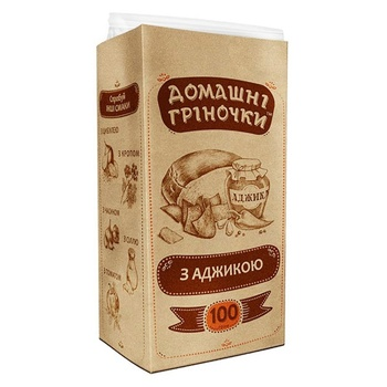 Domashni Grinochki Toasts with adjika 100g - buy, prices for Auchan - photo 1