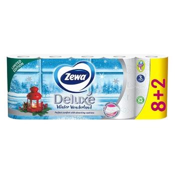 Туалетная бумага Zewa Deluxe Delicate Care белая 3-х слойная 8шт - купить, цены на Восторг - фото 5