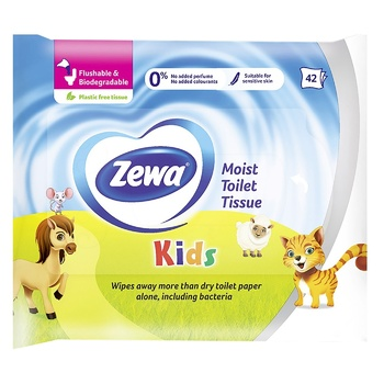 Zewa Kids wet toilet paper 42sheets