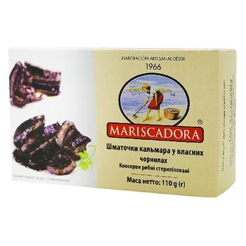 Mariscadora In American Sauce Squid Pieces Can 120ml - buy, prices for Novus - photo 1
