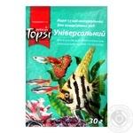 Topsi Universal Dry Natural Food for Aquarium Fish 30g