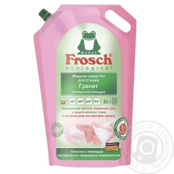 Средство для стирки Фрош Гранат жидкий 2л - купить, цены на Ашан - фото 2